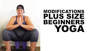 Download Beginners Plus Size Yoga Modifications - squat figure 4 triangle warrior Video