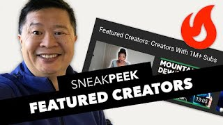 Download Trending Page Experiment Sneak Peek: Featured Creators - Creators with 1M+ Subs Video
