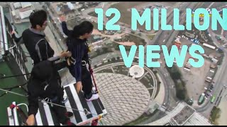 Download World's Highest Bungy Jump Macau - SCARY FUNNY JUMP , Indian Girl Says JAI HO Before she jumps Video