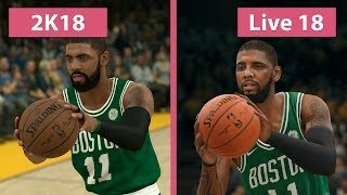 Download NBA 2K18 vs. NBA Live 18 Graphics Comparison on PS4 Video