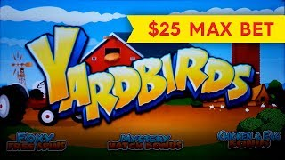 Download Yardbirds Slot - $25 Max Bet - GREAT SESSION, ALL FEATURES! Video