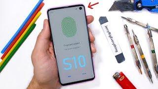 Download Galaxy S10 Durability Test - Ultrasonic Fingerprint Scratched?! Video