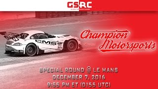 Download Champion Motorsports GT3 Series - 2016 Season 2 - Special Round - Le Mans Video