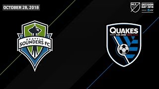 Download HIGHLIGHTS: Seattle Sounders FC vs. San Jose Earthquakes | October 28, 2018 Video