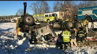 Download Crash closes I-80 near Grove City in Mercer County Video