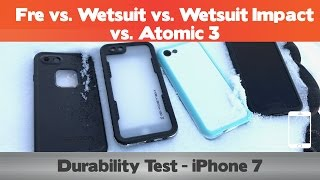Download Durability Test - LifeProof Fre vs Dog & Bone Wetsuit/Impact vs Atomic 3 - Waterproof iPhone 7 Cases Video