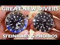 Download GREAT New Dive Watches! Steinhart Ocean GMT & Phoibos Great White Preview - Perth WAtch Suppl #8 Video