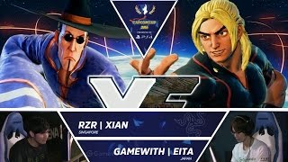 Download SFV: RZR Xian vs GameWith Eita - Capcom Cup 2016 Day 1 Top 16 - CPT2016 Video