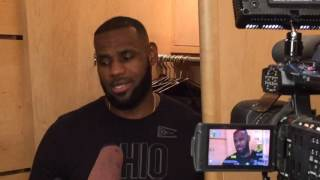 Download LeBron James on wearing a Cubs uniform to Friday's game Video