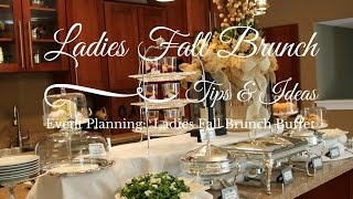 Download Ladies Fall Brunch - Buffet Style Video