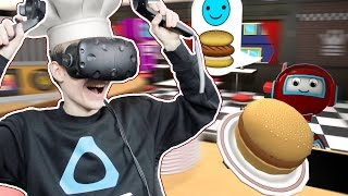 Download KID FRIENDLY VIRTUAL REALITY GAME! | The Diner Duo VR (HTC Vive Gameplay) Video