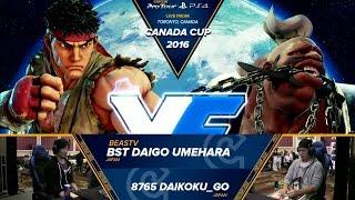 Download Daigo Umehara (Ryu) vs Daikoku (Birdie) - Top 16 - Canada Cup 2016 Video