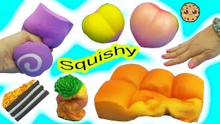 Download Giant Squishy Haul Peach, Cake, Donut, Foam Foods with Chef Barbie + Queen Elsa Video