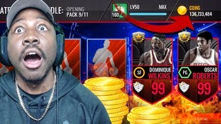 Download OVER 100 MILLION COINS EARNED & UL PACK OPENING! NBA Live Mobile Gameplay Pack Opening Ep. 167 Video