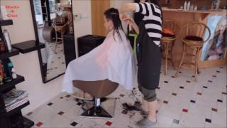 Download 2017-23 Michaela preview - long hair cut to very short Video