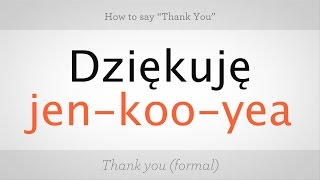 Download How to Say ″Thank You″ in Polish | Polish Lessons Video