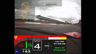 Download Silverstone GP circuit: Ferrari 458 GT3: Calum Lockie; pole lap: 2.03.33 Video