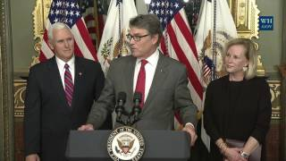 Download Swearing-in Ceremony for Department of Energy Secretary Rick Perry Video