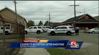 Download 2 suspects arrested after shooting at NOPD officers in Seventh Ward Video