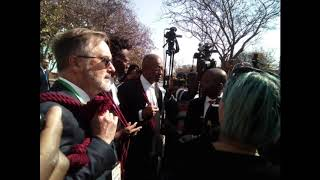 Download Dali Mpofu explaining their predicament (outside court) Video