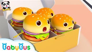 Download Hamburgers Fell down From Truck | Ice Cream | Learn Colors | Nursery Rhymes | Baby Songs | BabyBus Video