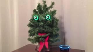 Download Amazon Alexa Echo Dot Becomes Creepy Talking Christmas Tree Video