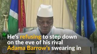 Download Gambians, tourists flee on eve of deadline for leader to surrender power Video