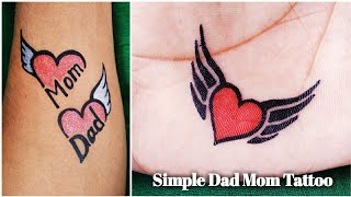 Download Beautiful Mom Dad and a simple fly heart tattoo Video