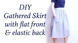 Download DIY Gathered Skirt / Half Elastic Waistband Tutorial // ギャザースカートの作り方 / Sewing Tutorialㅣmadebyaya Video