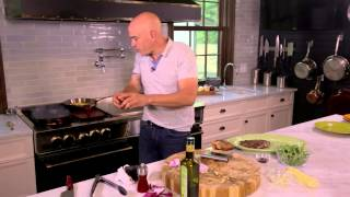 Download Grilled Flank Steak & Corn Bacon Salad from Chef Michael Symon and BlueStar Video