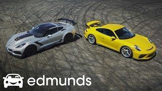 Download The 1,255-HP Showdown! Chevrolet Corvette ZR1 vs. Porsche 911 GT3 Video