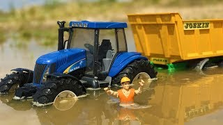 Download BRUDER TOYS tractors in the MUD!   Kids toys   Toys cartoon Video
