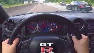 Download Nissan GTR Onboard POV 0-300 Acceleration Autobahn ECC Rent Mietwagen Video