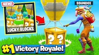 Download *NEW* LUCKY BLOCKS GAMEMODE in Fortnite Battle Royale (Playground Mode V2) Video