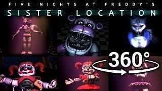 Download 360°| Best FNAF Sister Location Compilation Part 1 [SFM] [VR Compatible] Video