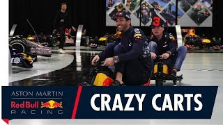 Download Max Verstappen and Daniel Ricciardo Crazy Cart The Factory Video