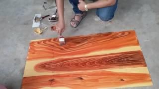 Download สีเขียนลายไม้ TRIRA เทคนิคทำตาไม้ Video