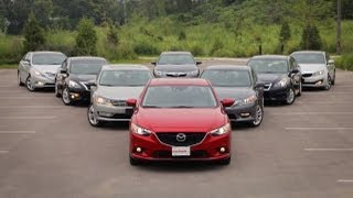 Download 2013-14 Mid-Size Sedan Comparison Test: Toyota Camry vs Honda Accord vs Mazda6 and more Video