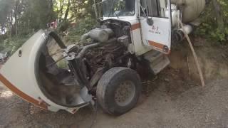 Download Cement Truck over Imbankment Video