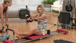 Download Aeropilates 4-Cord Reformer Plus w/ 4 DVDs and Rebounder on QVC Video