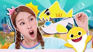 Download 鯊魚出沒了! !製作夾子鯊魚和小魚摺紙遊戲-基尼 Video