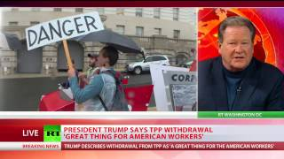Download Trump signs executive order withdrawing US from TPP Video