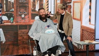 Download Extended: Ellen Shaves Off Super Bowl MVP Julian Edelman's Beard for Charity Video