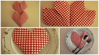 Download Kalp Şeklinde Peçete Katlama Tekniği - Origami Kalp Video