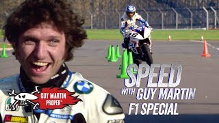 Download Guy's bike VS Red Bull F1 Car - the Slalom test | Guy Martin Proper Video