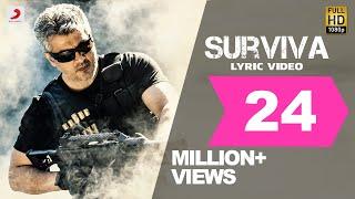 Download Vivegam - Surviva Tamil Lyric - Anirudh Feat Yogi B, Mali Manoj | Ajith Kumar | Siva Video