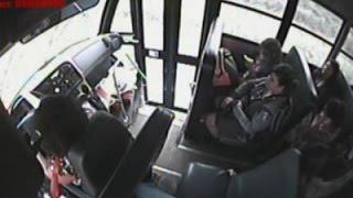 Download Raw: View Inside School Bus Crash in Rural Texas Video