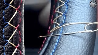 Download How to stitch a leather steering wheel cover DIY fitting instructions Video