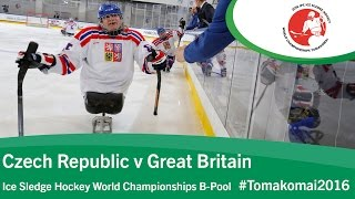 Download Czech Republic v Great Britain | Prelim | 2016 Ice Sledge Hockey World Champs B-Pool, Tomakomai Video