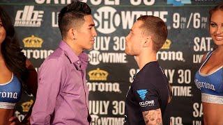 Download Leo Santa Cruz vs. Carl Frampton COMPLETE Face Off video- Final Press Conference Video